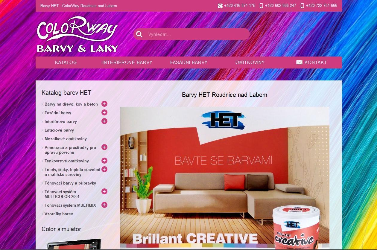 Responzivní katalog barev HET