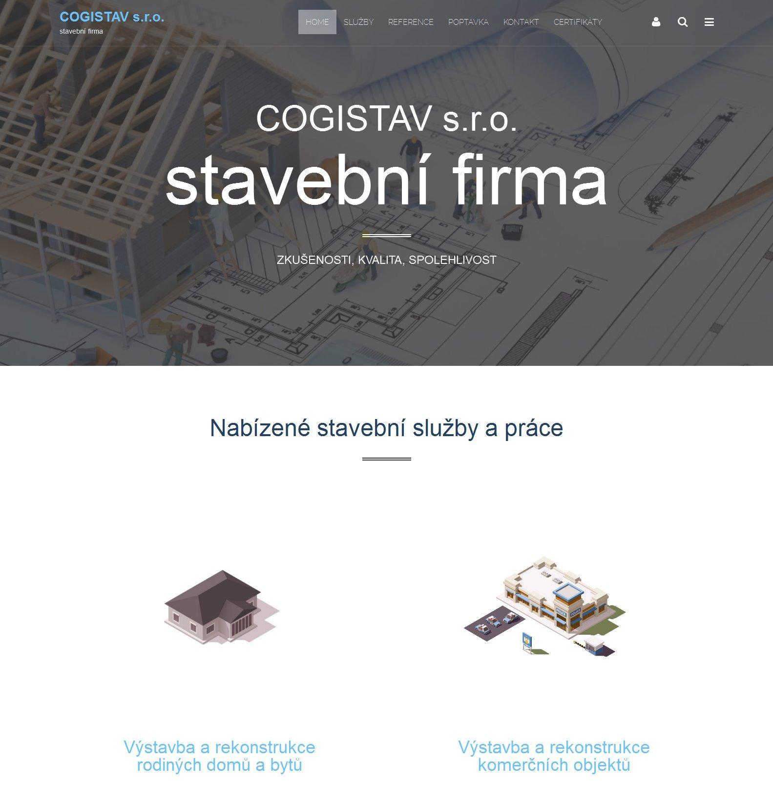 Webové stránky Cogistav s.r.o.