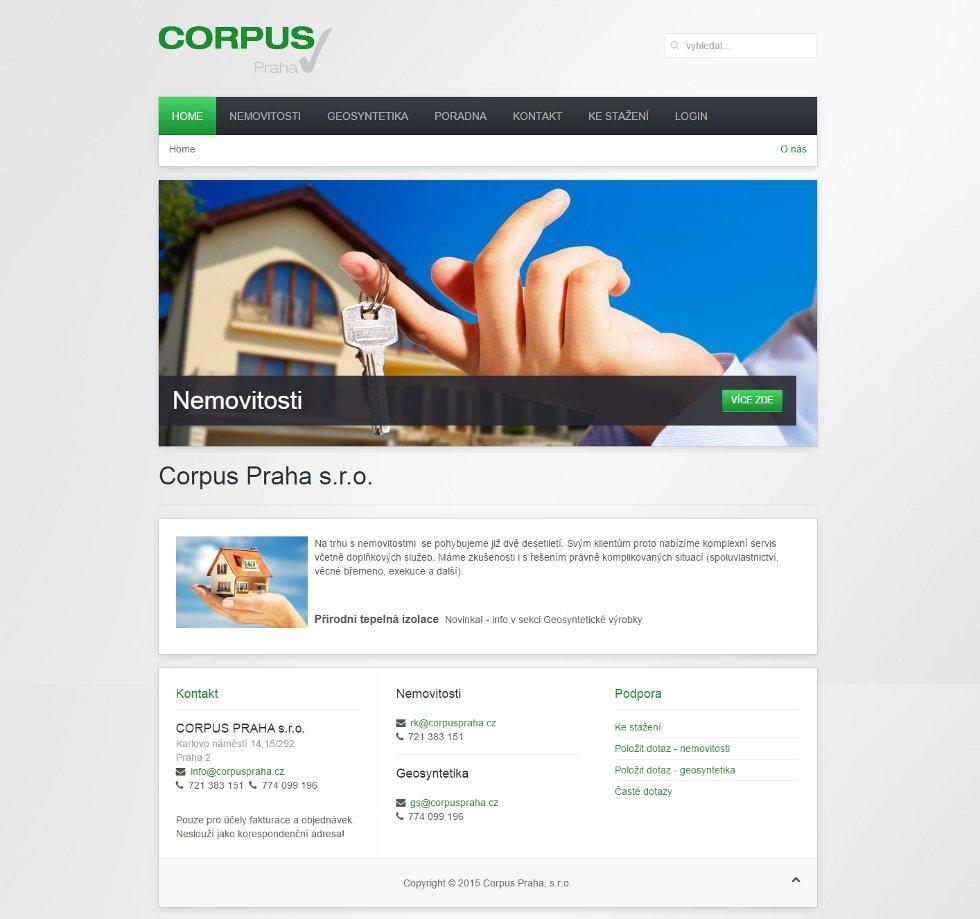 Webové stránky Corpus Praha s.r.o.