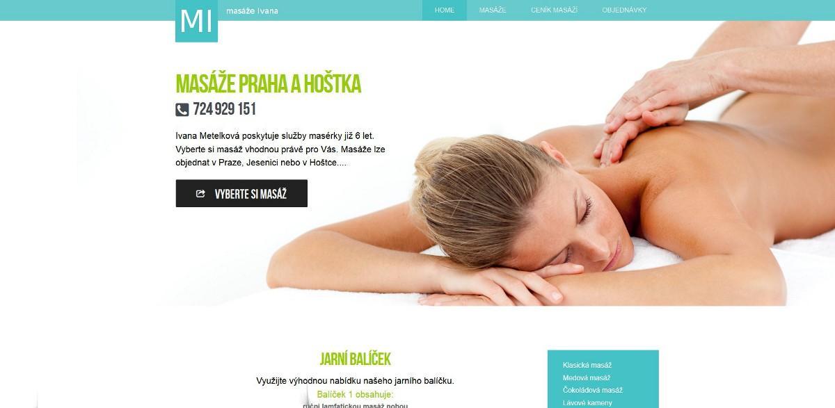 Webové stránky Masáže Ivana