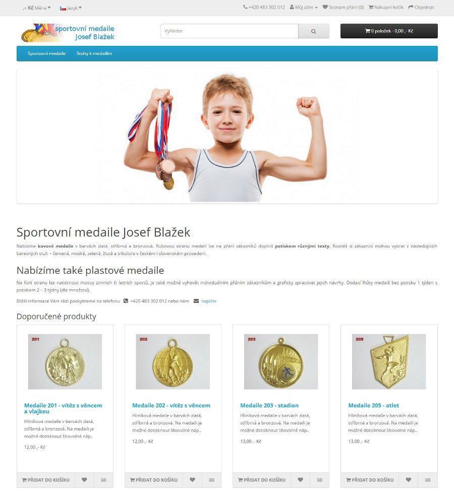 Responzivní eshop Sportovní medaile