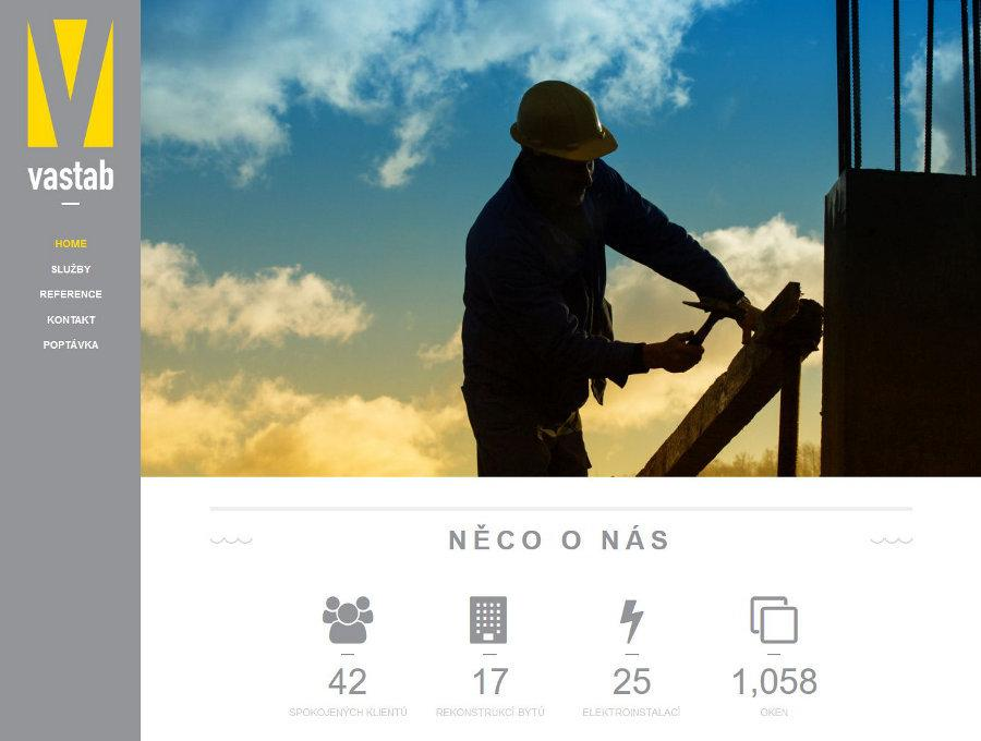 Web stavební firmy Vastab s.r.o.